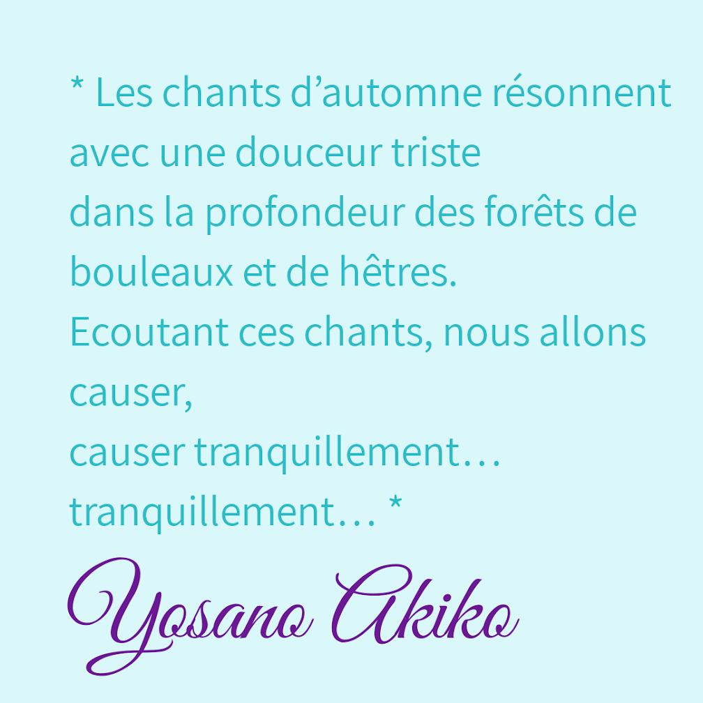 Citation Yosano Akiko